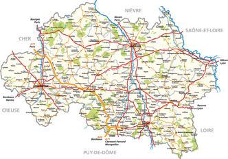 Carte de l'Allier